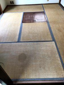 掘りコタツのあるお部屋の畳替えBefore